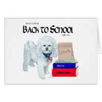 Bichon Frise Back to School Card