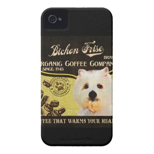 Bichon Frise Brand – Organic Coffee Company iPhone 4 Case-Mate Case