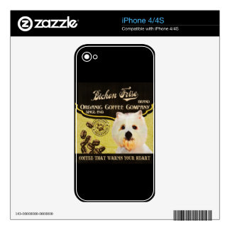 Bichon Frise Brand – Organic Coffee Company Skins For iPhone 4S