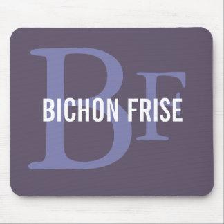 Bichon Frise Breed Monogram Design Mouse Pad