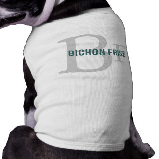 Bichon Frise Breed Monogram Design Tee