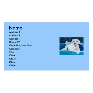 Bichon Frise Buddy Double-Sided Standard Business Cards (Pack Of 100)