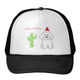 Bichon Frise Cactus Christmas Trucker Hat