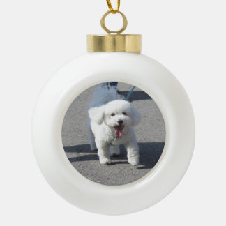 Bichon Frise Ceramic Ornament