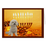 Bichon Frise Chanukah Card Menorah<br><div class='desc'>Remembering family and friends during the Chanukah season is a wonderful way to keep in touch with the people you love and care about. I created these dog Chanukah cards with love and care and I am sure anyone who loves dogs will be delighted to receive them. You do have...</div>