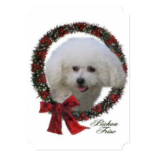 Bichon Frise Christmas 5x7 Paper Invitation Card