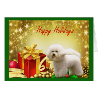 Bichon Frise Christmas Card Gifts