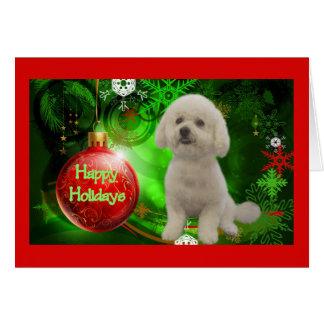 Bichon Frise Christmas Card Happy Holidays