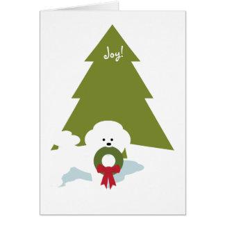 Bichon Frise Christmas Card -Joy!