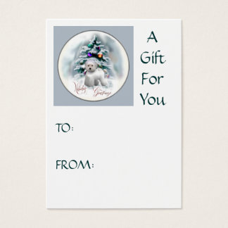 Bichon Frise Christmas Gifts Business Card