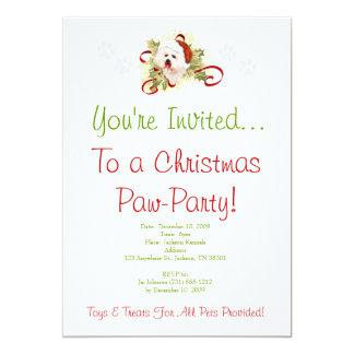 Bichon Frise Christmas Invitation