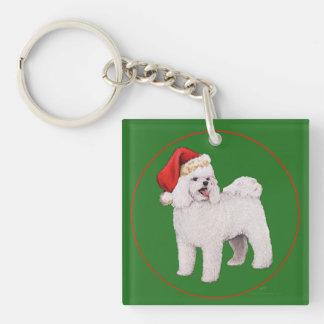 Bichon Frise Christmas Keychain