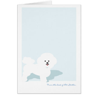 Bichon Frise Custom Note Card