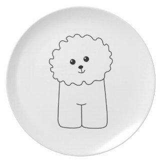 Bichon Frise, Cute Dog. Plate
