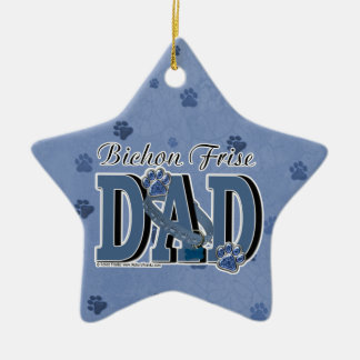 Bichon Frise DAD Christmas Ornaments