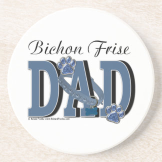 Bichon Frise DAD Drink Coaster