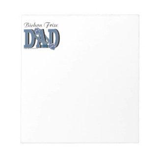 Bichon Frise DAD Memo Note Pad