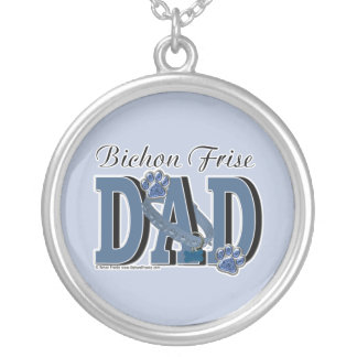 Bichon Frise DAD Custom Necklace