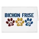 BICHON FRISE DAD Paw Print Cards