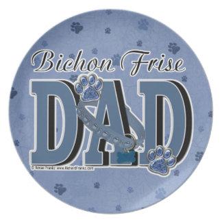 Bichon Frise DAD Party Plate