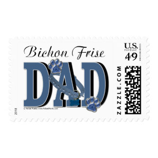 Bichon Frise DAD Postage Stamps