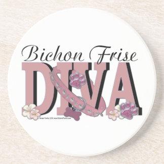 Bichon Frise DIVA Drink Coaster