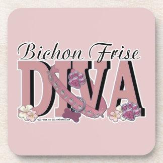 Bichon Frise DIVA Drink Coasters