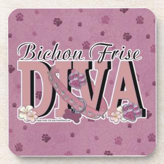 Bichon Frise DIVA Beverage Coaster
