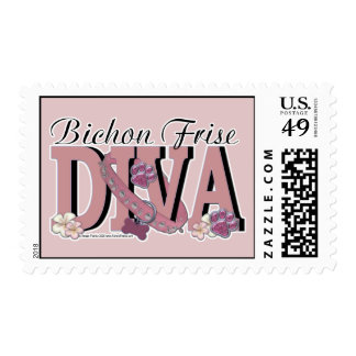 Bichon Frise DIVA Postage Stamps