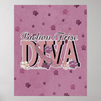 Bichon Frise DIVA Poster