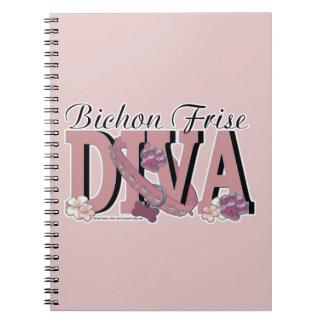 Bichon Frise DIVA Spiral Note Book