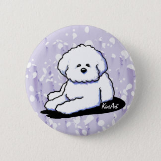 Bichon Frise Dog Art Button