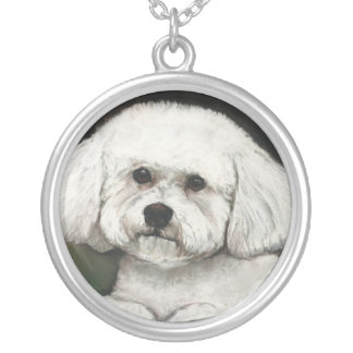 Bichon Frise Dog Art Necklace