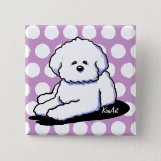 Bichon Frise Dog Art Pin