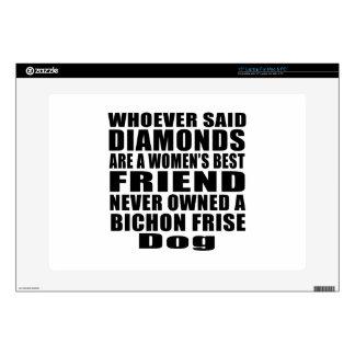 "BICHON FRISE DOG BEST FRIEND DESIGNS SKIN FOR 15"" LAPTOP"