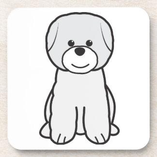 Bichon Frise Dog Cartoon Drink Coaster