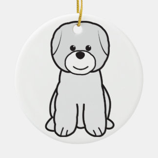 Bichon Frise Dog Cartoon Christmas Tree Ornaments