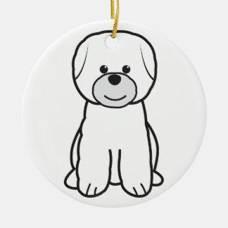 Bichon Frise Dog Cartoon Christmas Tree Ornament