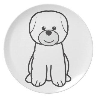 Bichon Frise Dog Cartoon Party Plate