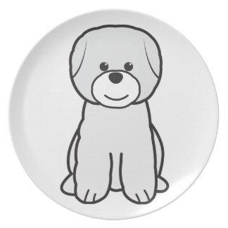Bichon Frise Dog Cartoon Party Plates