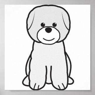 Bichon Frise Dog Cartoon Print
