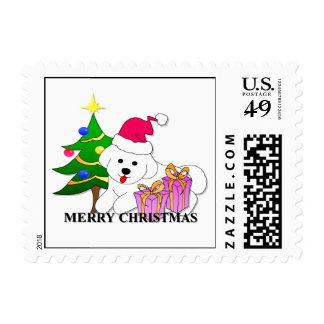 Bichon Frise Dog Christmas Postage Stamps
