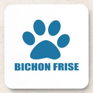 BICHON FRISE DOG DESIGNS DRINK COASTER