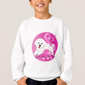 Bichon Frise Dog Pink Ribbon Sweatshirt