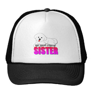Bichon Frise Dog Sister Trucker Hat
