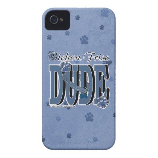 Bichon Frise DUDE Case-Mate iPhone 4 Cases
