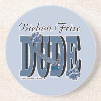 Bichon Frise DUDE Beverage Coasters
