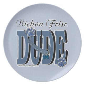 Bichon Frise DUDE Dinner Plates