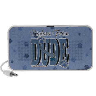 Bichon Frise DUDE Portable Speakers