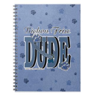 Bichon Frise DUDE Spiral Notebooks